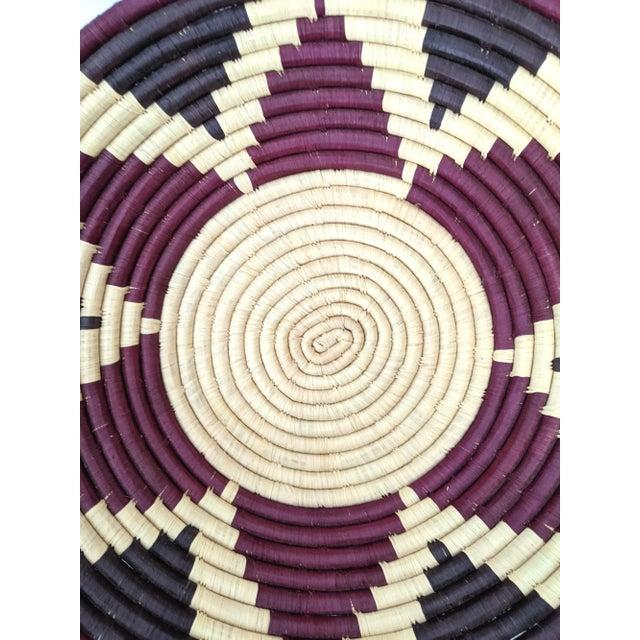 1990s Coiled Artisanal Rwandan Basket For Sale - Image 4 of 5
