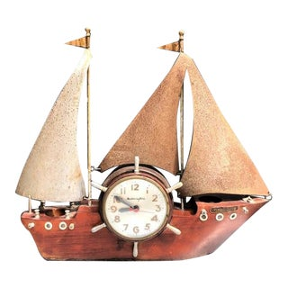 Mastercrafters Mid Century Ship Clock Lamp For Sale