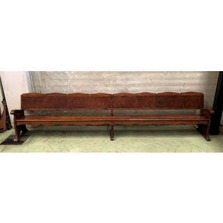 11.5´ 20th Century Monumental Church Walnut Bench Settee Preview