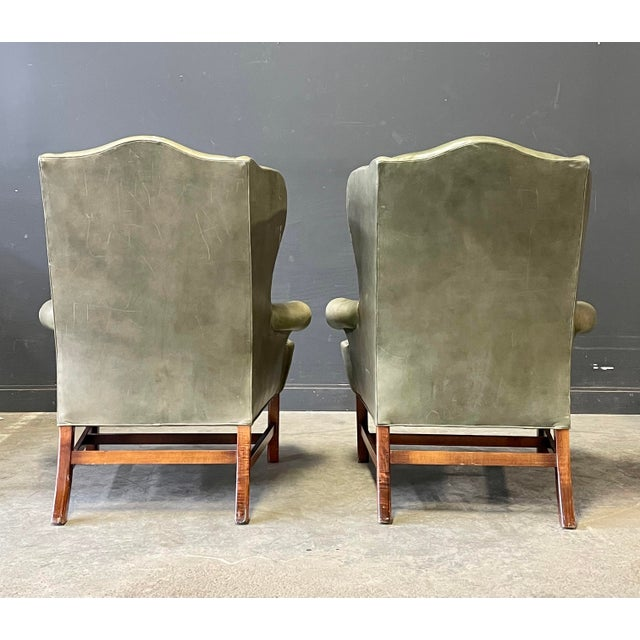 Traditional Ralph Lauren Georgian Style Wing Back Chairs For Sale - Image 3 of 6