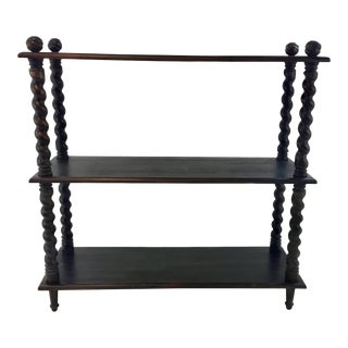 Black Wood Barley Twist Shelf For Sale