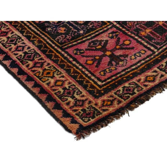 Vintage Persian Hamedan Wool Rug - 4′2″ × 7′7″ - Image 4 of 5