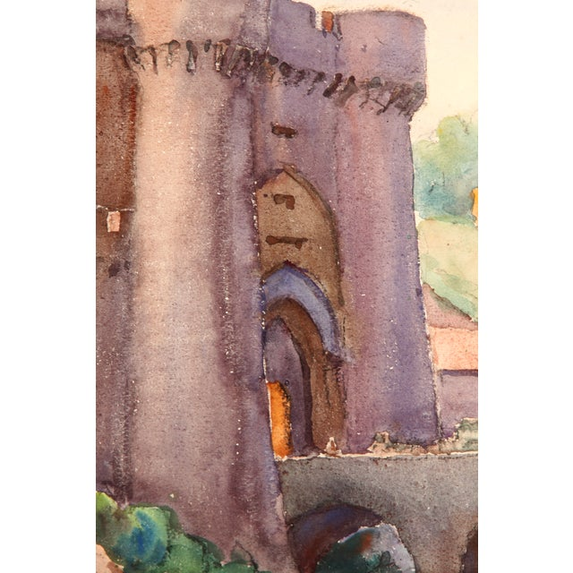 Monory Town Gate in France Painting - Image 3 of 7