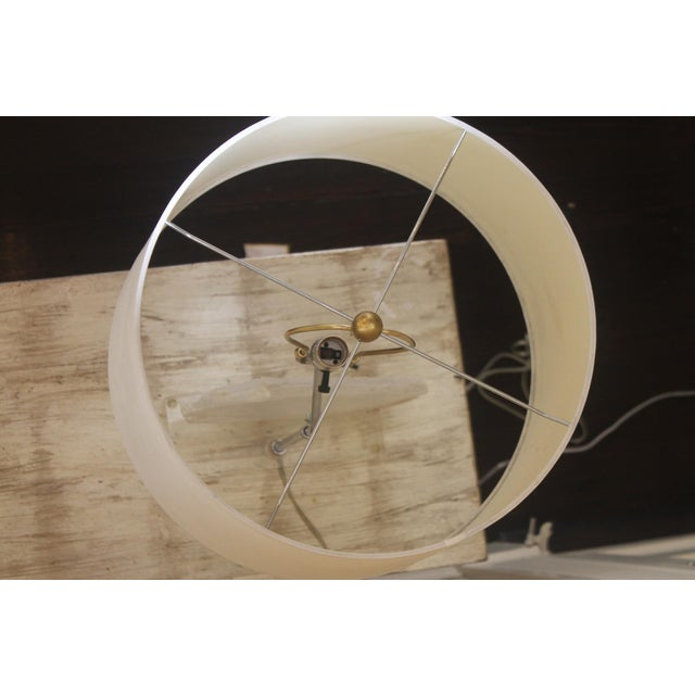 Selenite Stone Lamp With Shade For Sale - Image 10 of 11