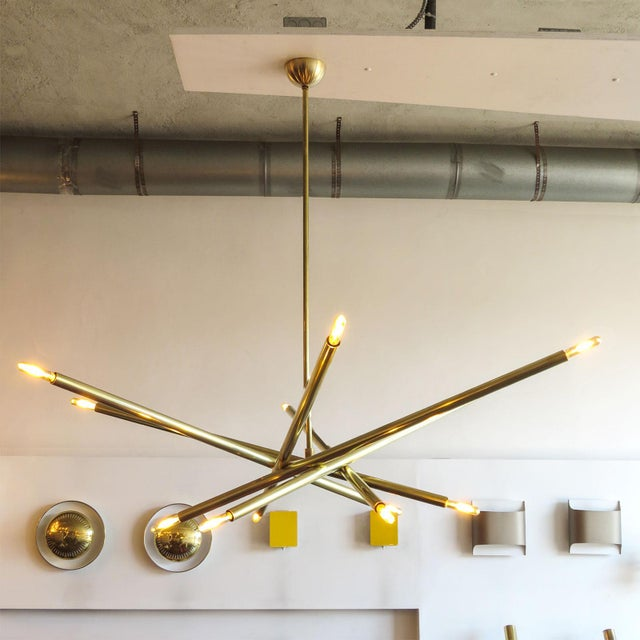 Brass Gallery L7 Spiral As-6 Chandelier For Sale - Image 7 of 11