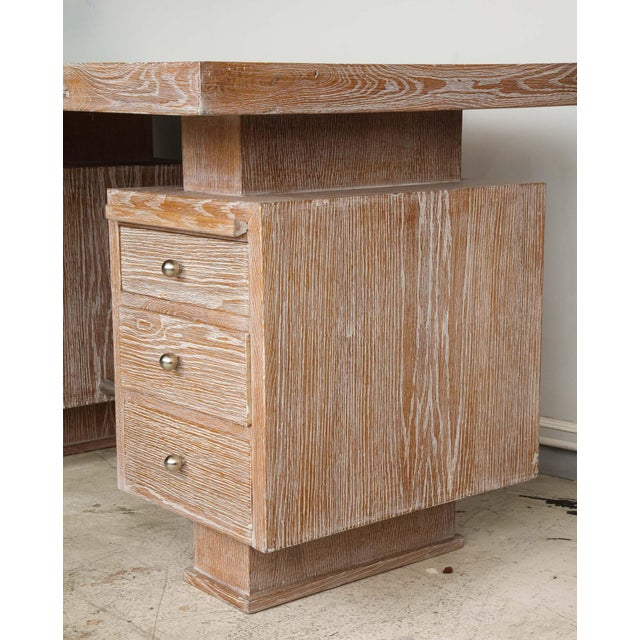 French Cerused Oak Desk For Sale In New York - Image 6 of 11