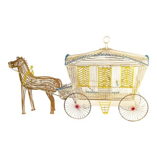 Antique Horse Drawn Bird Cage For Sale