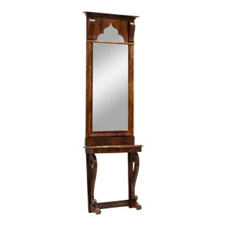 19th Century Mahogany Pier Mirror & Table For Sale