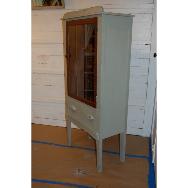 Antique Painted Display Cabinet - Image 8 of 10