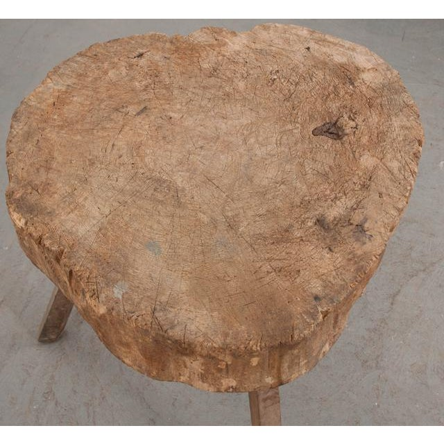 """French 19th Century Provincial """"Tree-Trunk"""" Chopping Block Stool For Sale In Baton Rouge - Image 6 of 8"""