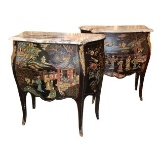 French Coromandel Commodes - A Pair