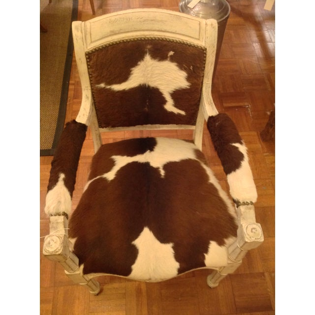 Antique Cowhide Chair with Nailhead Accents - Image 6 of 6