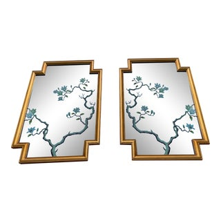 Magnificent Sculptural Mirrors With Gold Leaf a Pais For Sale