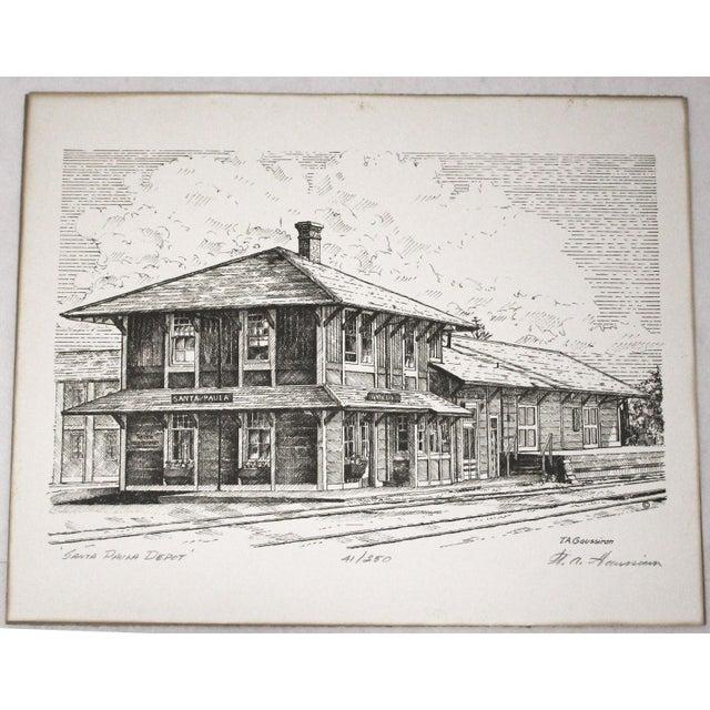 Train Station Ventura County Southern California Santa Paula Depot Limited Edition Print by Timothy Gaussiran 41/250 For Sale - Image 9 of 9