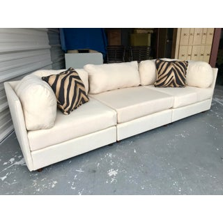 70′s Vintage 3pc Selig Modular Sectional Sofa Mid Century Modern Baughman Era Preview
