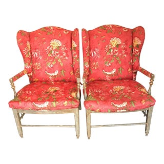 Highland House Chair Traditional Style Rush Seat Chairs - A Pair