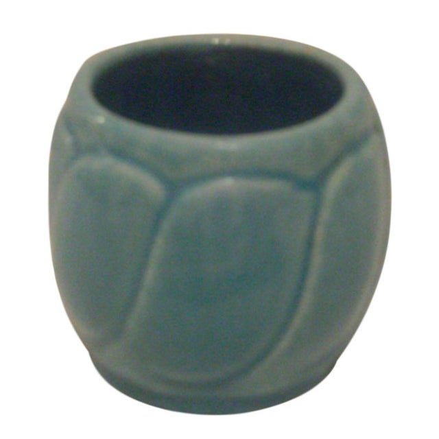 Small Turquoise Broadmoor Pottery Pot - Image 1 of 6