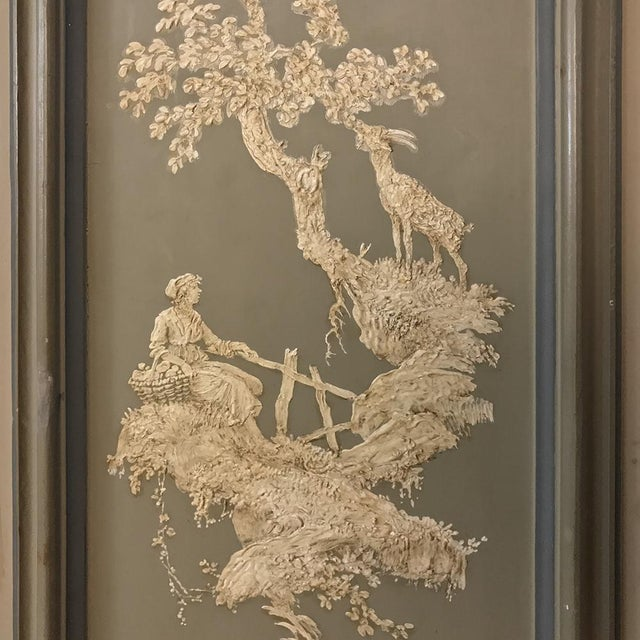 Early 19th Century Italian Neoclassical Painted Armoire For Sale In Dallas - Image 6 of 13