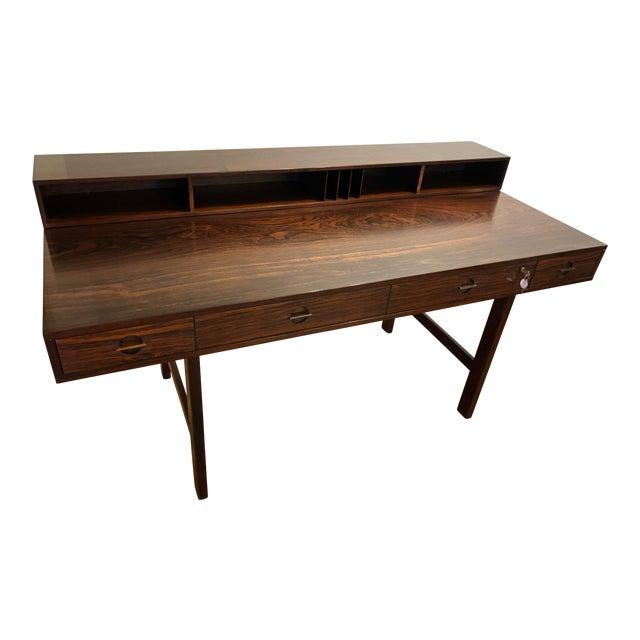 Peter Lovig Nielsen Flip Top Rosewood Desk For Sale