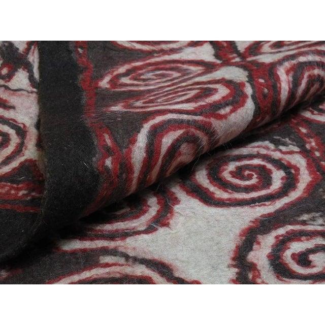 Textile Central Asian Felt Carpet For Sale - Image 7 of 9