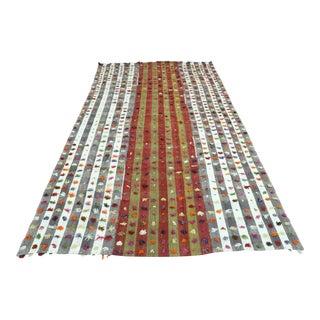 Anatolia Turkish Tribal Kilim Rug-5′8″ × 9′3″ For Sale