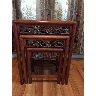 Antique Chinese Nesting Tables- Set of 3 Preview