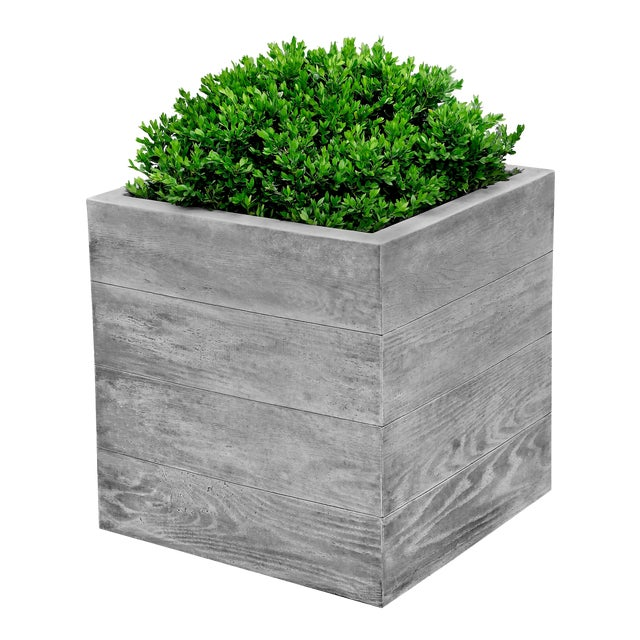 Sycamore Square Planter, Large For Sale