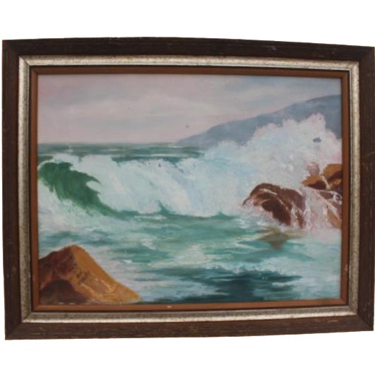 Ocean Scene, Oil Painting by Jean Papenfus For Sale