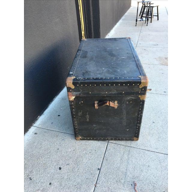 Distressed Vintage Steamer Trunk - Image 3 of 5