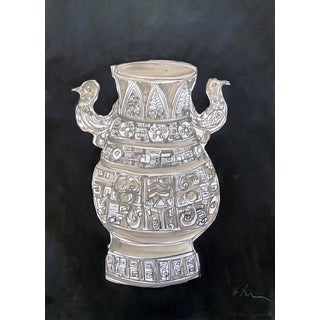 Vase N.1, in Black and White For Sale