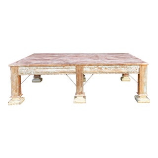 Monumental Indian Column Table For Sale