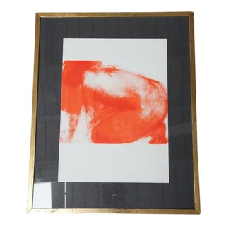 "1965 Claude Garache ""Red Nude"" Lithograph For Sale"
