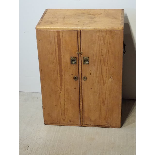 1880 Antique Pine Cabinet/Chest For Sale - Image 11 of 13