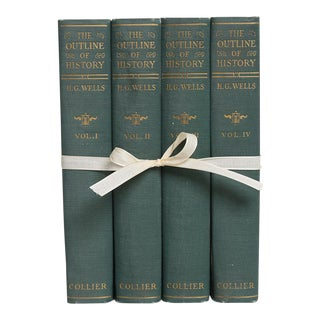 Vintage Book Gift Set: The Outline of History Set of Four