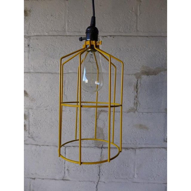 Canary Yellow Mid Century Styled Pendant Lamp For Sale - Image 5 of 7
