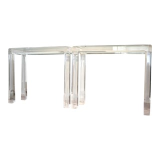 Lucite Console Tables, a Pair
