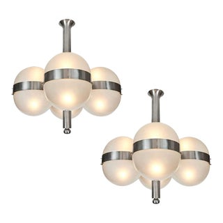 1960s Sergio Mazza 'Tetraclio' Chandeliers for Artemide - a Pair For Sale