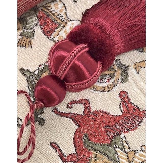 Velvet Ruche Rouge Key Tassel For Sale - Image 4 of 10
