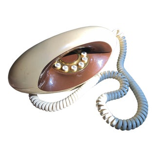 1970s Vintage Mid Century Modern Telephone For Sale