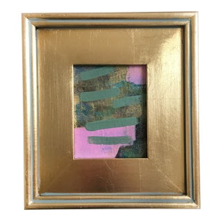 Pink Steps Mini Painting For Sale
