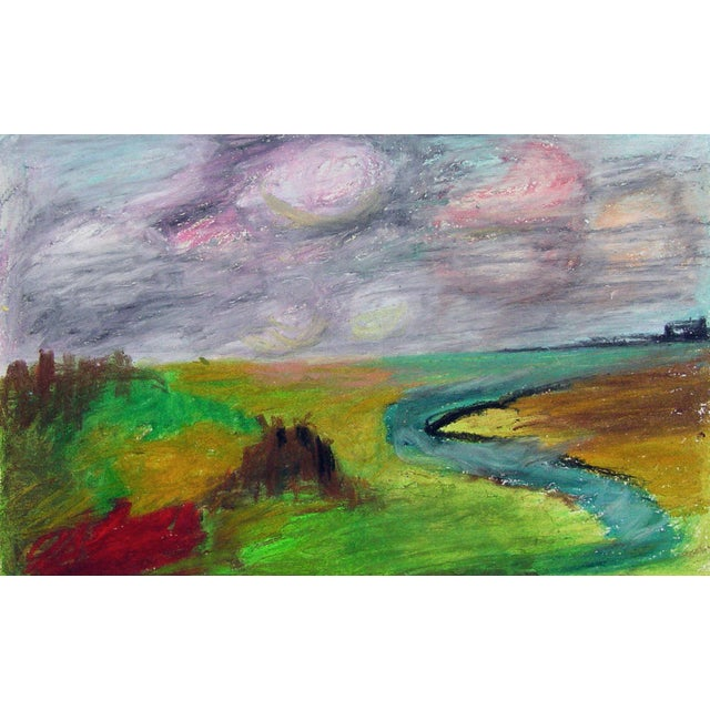 Color Block Pastel Landscape Drawing - Image 1 of 2