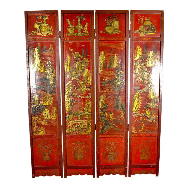 19th Century Chinoiserie Screen For Sale