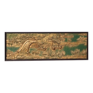 "Antique ""Chin Ming Sha Ho Tu"" Framed Relief For Sale"