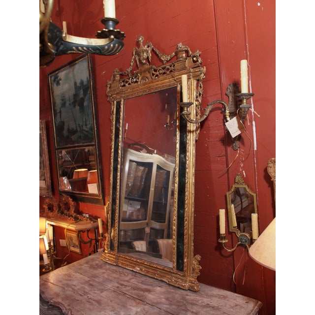 19th Century Italian Gilt Wood Mirror - Image 7 of 8