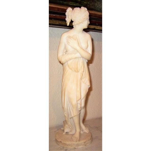 Italian 19c Italian Marble Figurine of Venus For Sale - Image 3 of 8