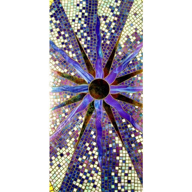 Boho Chic Mosaic Fleur-De-Lis Sunburst Tile Top Table For Sale - Image 11 of 13