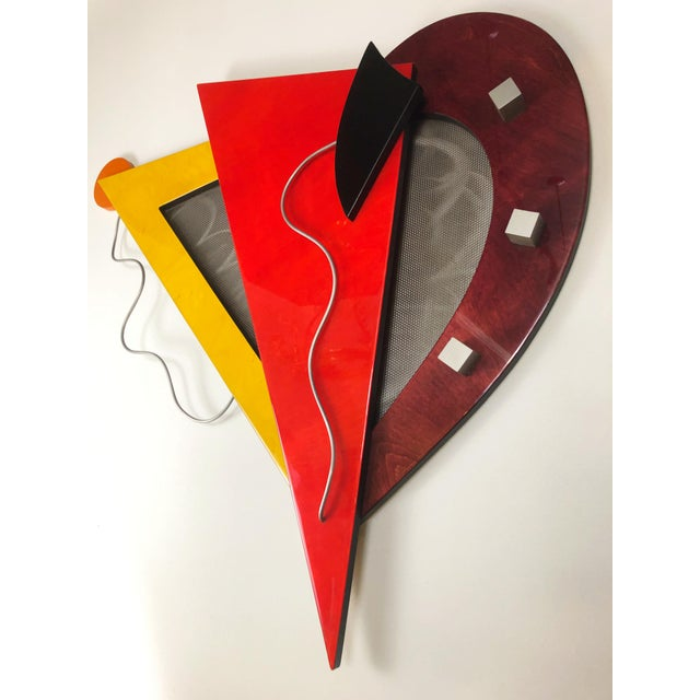 1980s Memphis Group Wall Sculpture, in the Style of Ettore Sottsaas, 1980s For Sale - Image 5 of 5