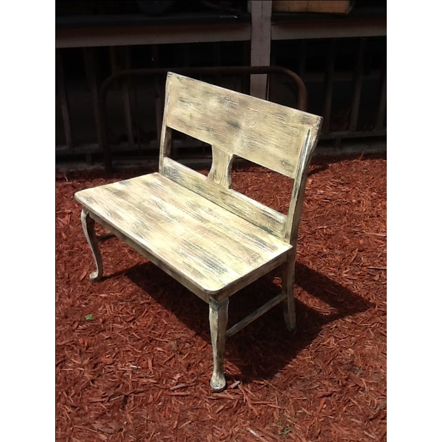 Rustic Distressed Bench - Image 2 of 6