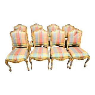 French Country Dining Chairs - Set of 8 For Sale