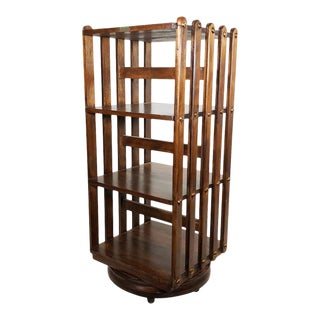 Revolving Bookcase by Sargent MFG Co. For Sale